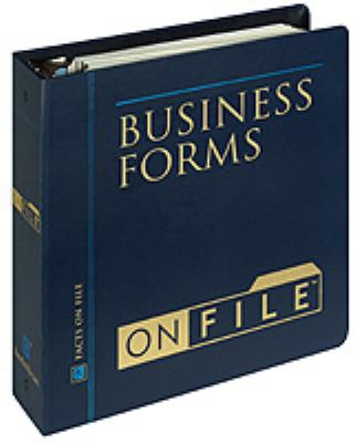 Business Forms on File 9780816040636