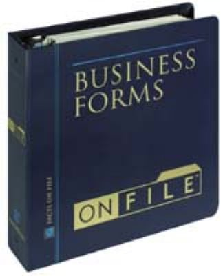 Business Forms on File 9780816055890