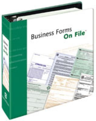 Business Forms on File 9780816075829