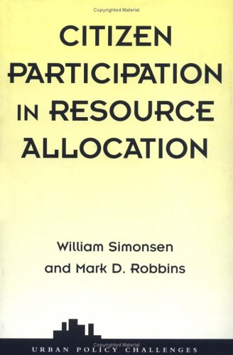 Citizen Participation in Resource Allocation 9780813368245