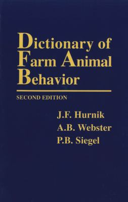 Dictionary Farm Anml Behavior-95-2 9780813824642
