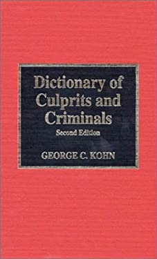Dictionary of Culprits and Criminals 9780810829916