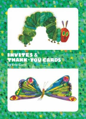 Eric Carle Caterpillar & Butterfly Invite and Thank You Cards 9780811856898