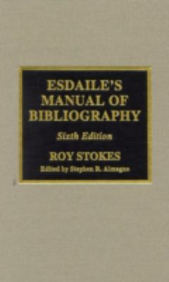 Esdaile's Manual of Bibliography 9780810839229