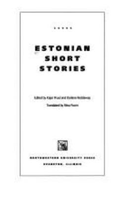 Estonian Short Stories 9780810112414