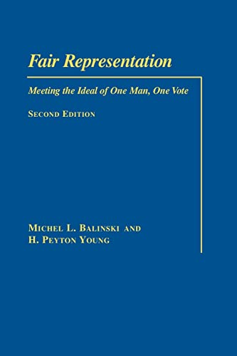 Fair Representation: Meeting the Ideal of One Man, One Vote 9780815701118