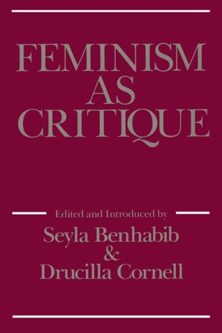 Feminism as Critique 9780816616367