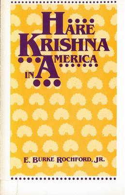 Hare Krishna in America 9780813511146