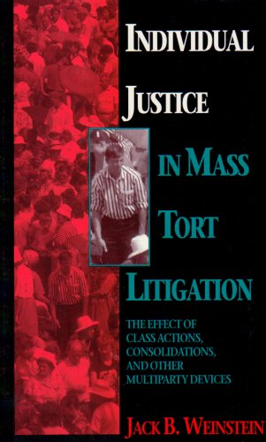 Individual Justice in Mass Tort Litigation 9780810111882