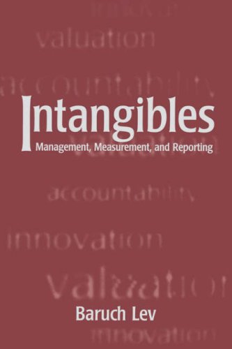 Intangibles: Management, Measurement, and Reporting 9780815700937