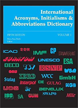 International Acronyms Initialisms & Abbreviations Dict 5 9780810377974