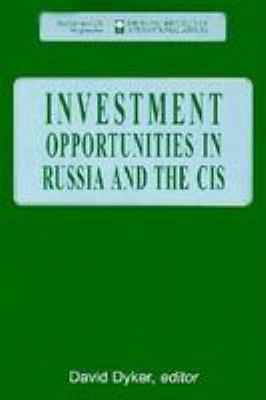 Investment Opportunities in Russia and the Cis 9780815719991