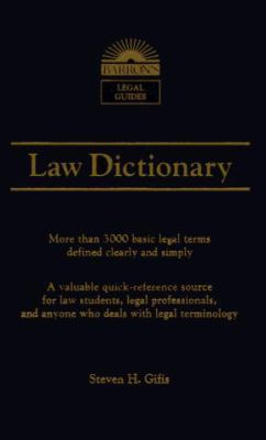Law Dictionary 9780812033809
