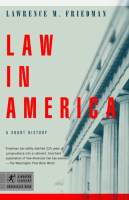 Law in America: A Short History 9780812972856