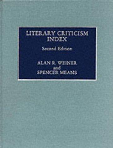 Literary Criticism Index 9780810826656