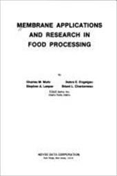 Membrane Applications and Research in Food Processing 9036628