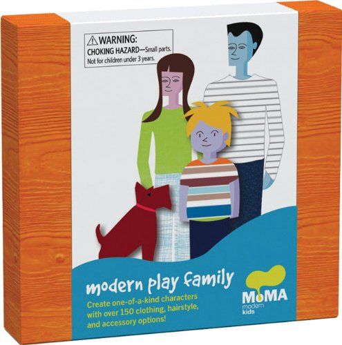 Modern Play Family [With 150+ Reusable Vinyl Clothing Accessories and 9 Punch-Out Figures] 9780811873437