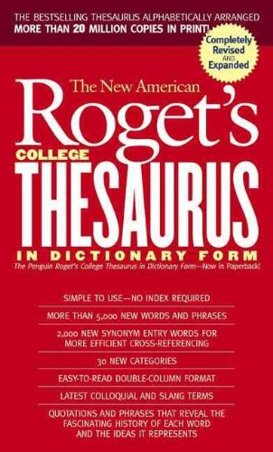 The New American Roget's College Thesaurus: In Dictionary Form 9780812416541