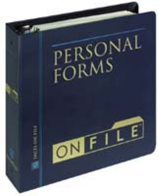 Personal Forms on File 9780816055883