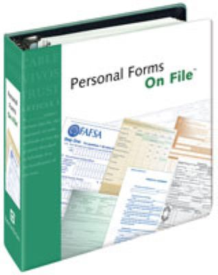 Personal Forms on File 9780816075805