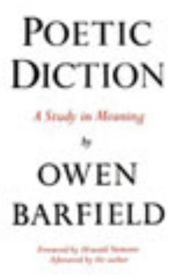 Poetic Diction: A Study in Meaning 9780819560261
