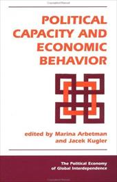 Political Capacity and Economic Behavior