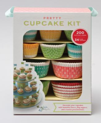 Pretty Cupcake Kit [With Cupcake Liners, Flag Toppers and Booklet]