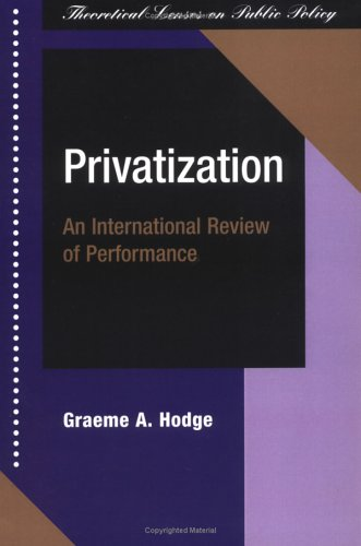 Privatization: An International Review of Performance 9780813366814
