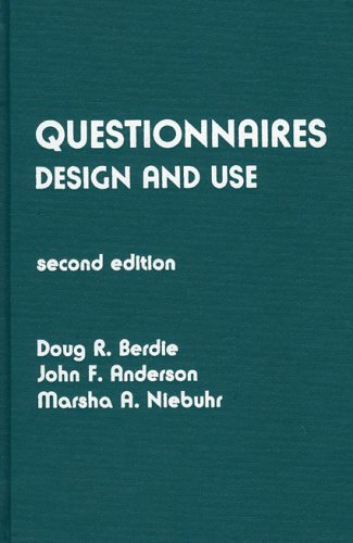 Questionnaires: Design and Use 9780810818842