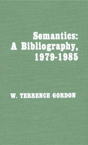Semantics: A Bibliography, 1979-1985