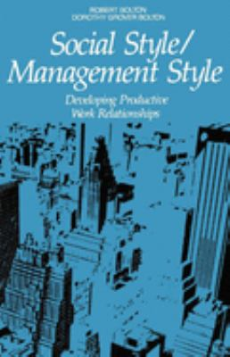 Social Style/Management Style 9780814476178