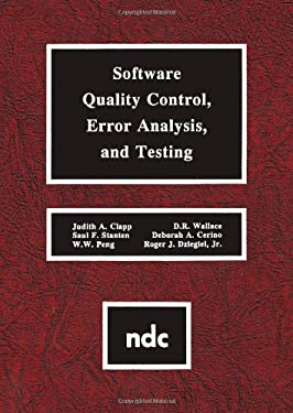 Software Quality Control, Error, Analysis 9780815513636