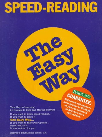 Speed Reading the Easy Way Speed Reading the Easy Way 9780812098525