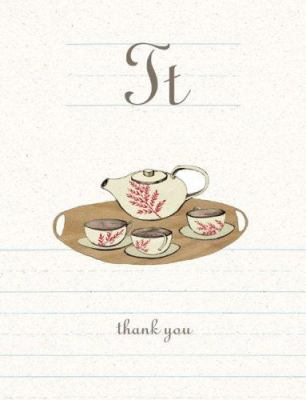 T Is for Thank You [With 12 Envelopes] 9780811857895