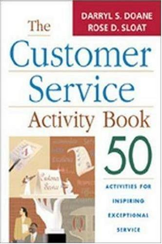 The Customer Service Activity Book: 50 Activities for Inspiring Exceptional Service 9780814472590