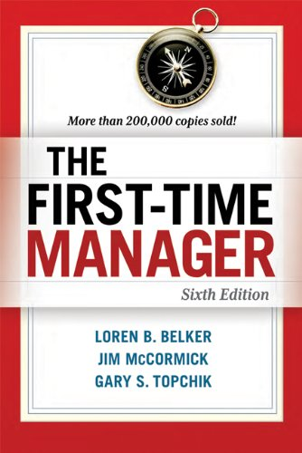The First-Time Manager 9780814417836