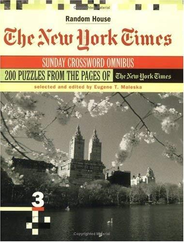 Nyt Sunday Crossword Omnibus V 9780812936179