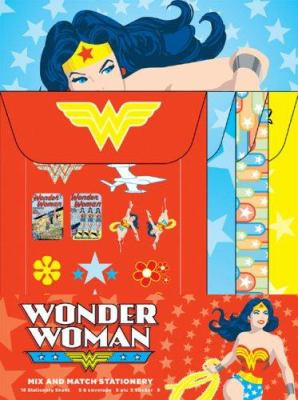 Wonder Woman Mix and Match Stationery [With Stickers] 9780811857888