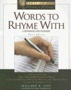 Words to Rhyme with: A Rhyming Dictionary 9780816063048