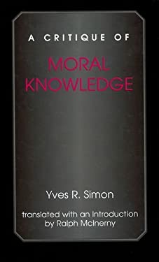 A Critique of Moral Knowledge 9780823221042