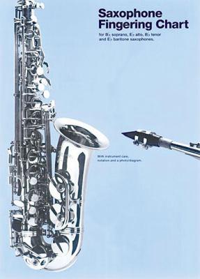 Saxophone Fingering Chart (Amsco Fingering Charts) Hal Leonard Corp.