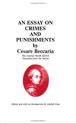An Essay on Crimes and Punishments 9780828318006