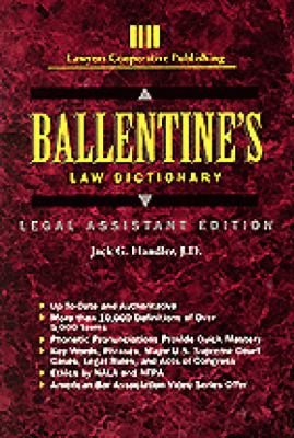 Ballentine's Law Dictionary: Legal Assistant Edition 9780827348745