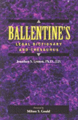 Ballentine's Legal Dictionary/Thesaurus 9780827365261