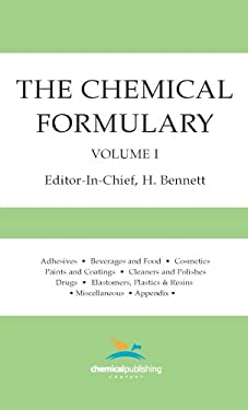 The Chemical Formulary, Volume 1 9780820602592