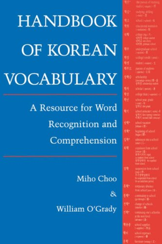 Choo: Handbk of Korean Voc Paper 9780824818159