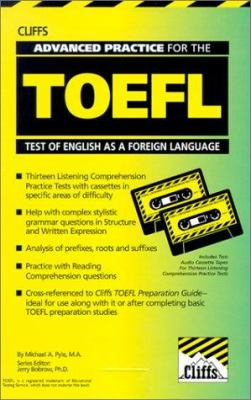 Cliffs Advanced Practice for the TOEFL [With Workbook] 9780822020806
