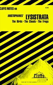 Cliffsnotes Aristophanes' Lysistrata & Other Comedies 3536676