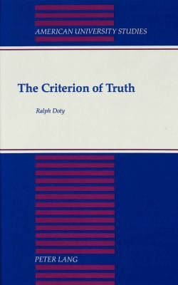 Criterion of Truth 9780820414249