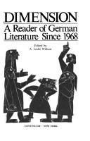 Dimension: A Reader of German Literature Since 1968